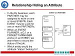 relationship hiding an attribute