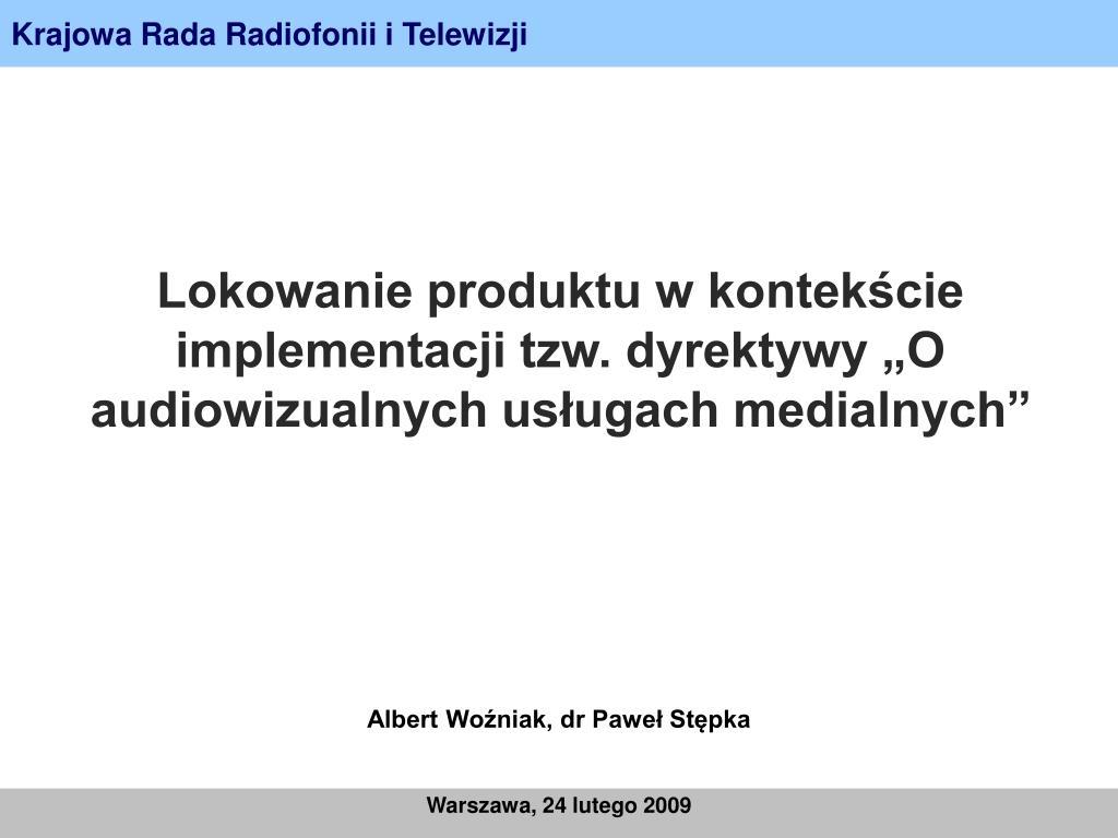 krajowa rada radiofonii i telewizji l.
