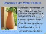 decorative urn water feature