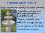 fountain water feature