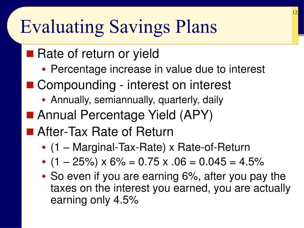 Evaluating Savings Plans