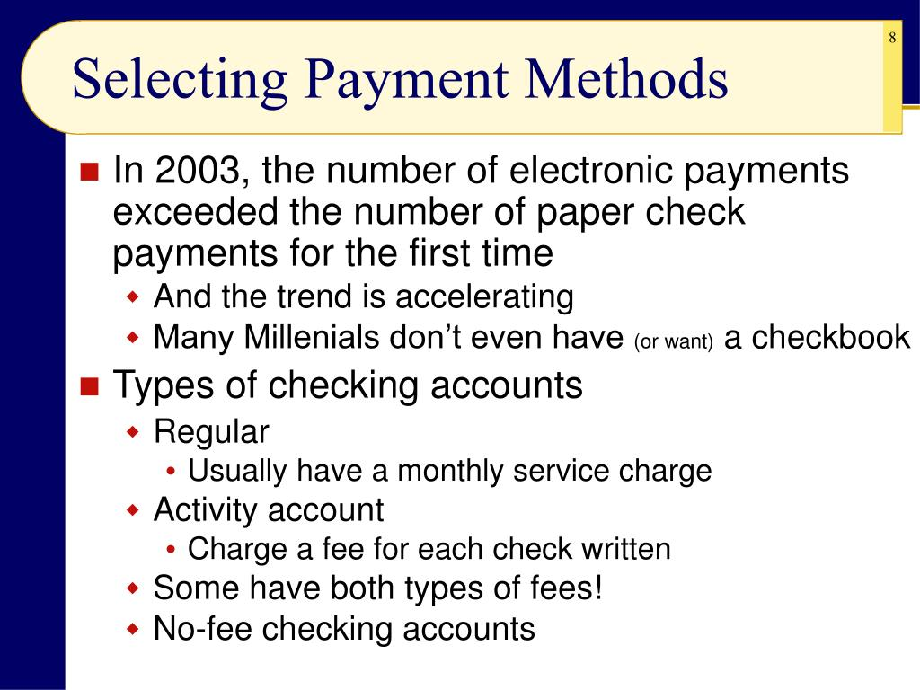 Selecting Payment Methods