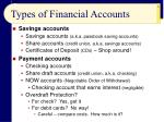 types of financial accounts