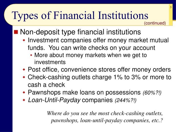 Types of financial institutions3