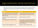 inguinal hernias direct and indirect