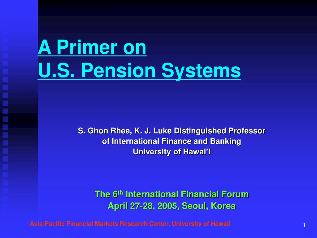a primer on u s pension systems l.