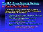 the u s social security system a pay as you go basis