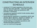 constructing an interview schedule