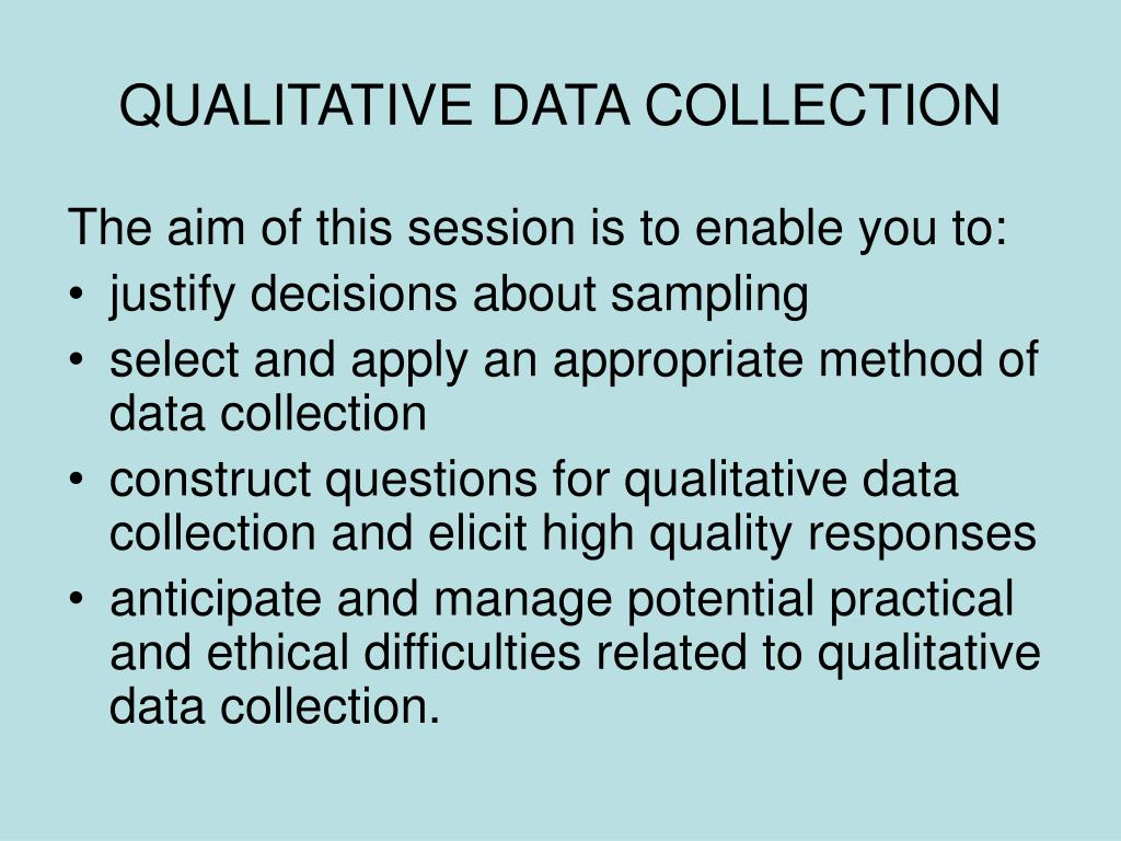 qualitative data collection l.