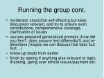 running the group cont