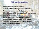 bia modernization