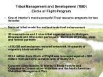 tribal management and development tmd circle of flight program
