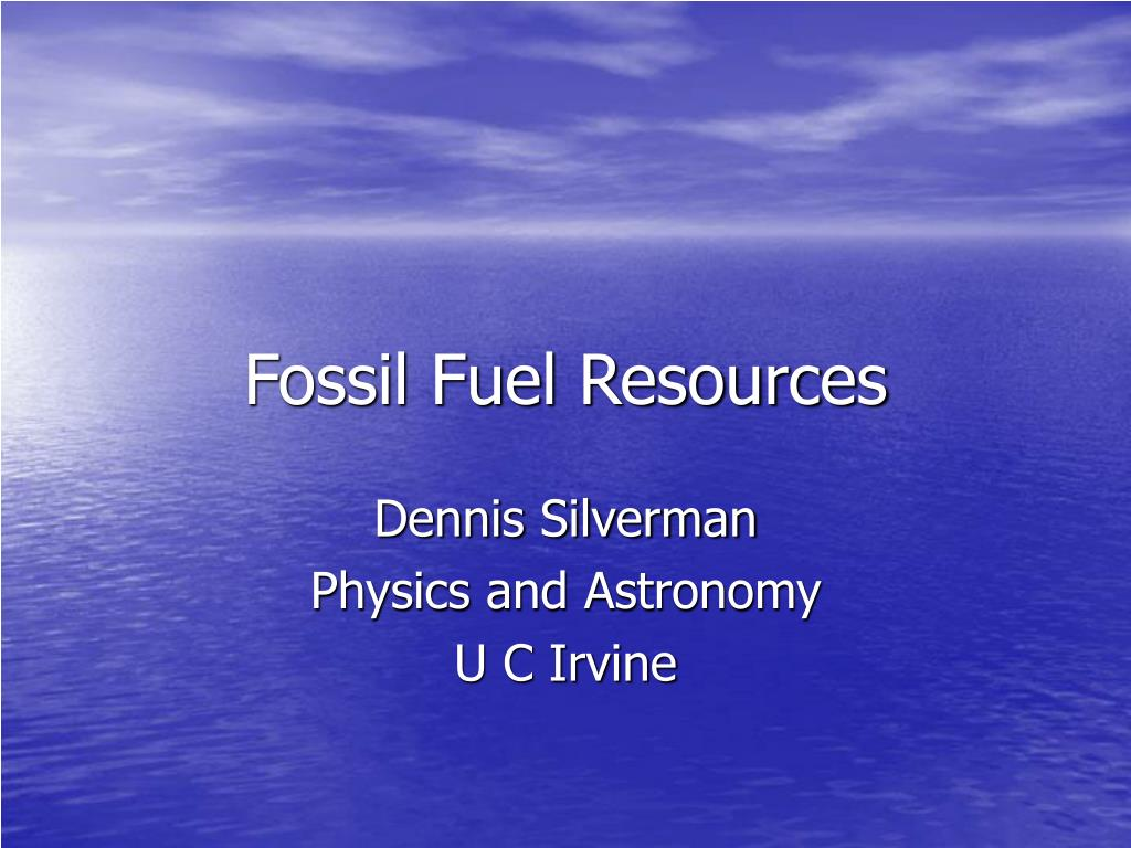 fossil fuel resources l.