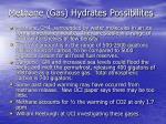 methane gas hydrates possibilites