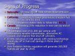 signs of progress