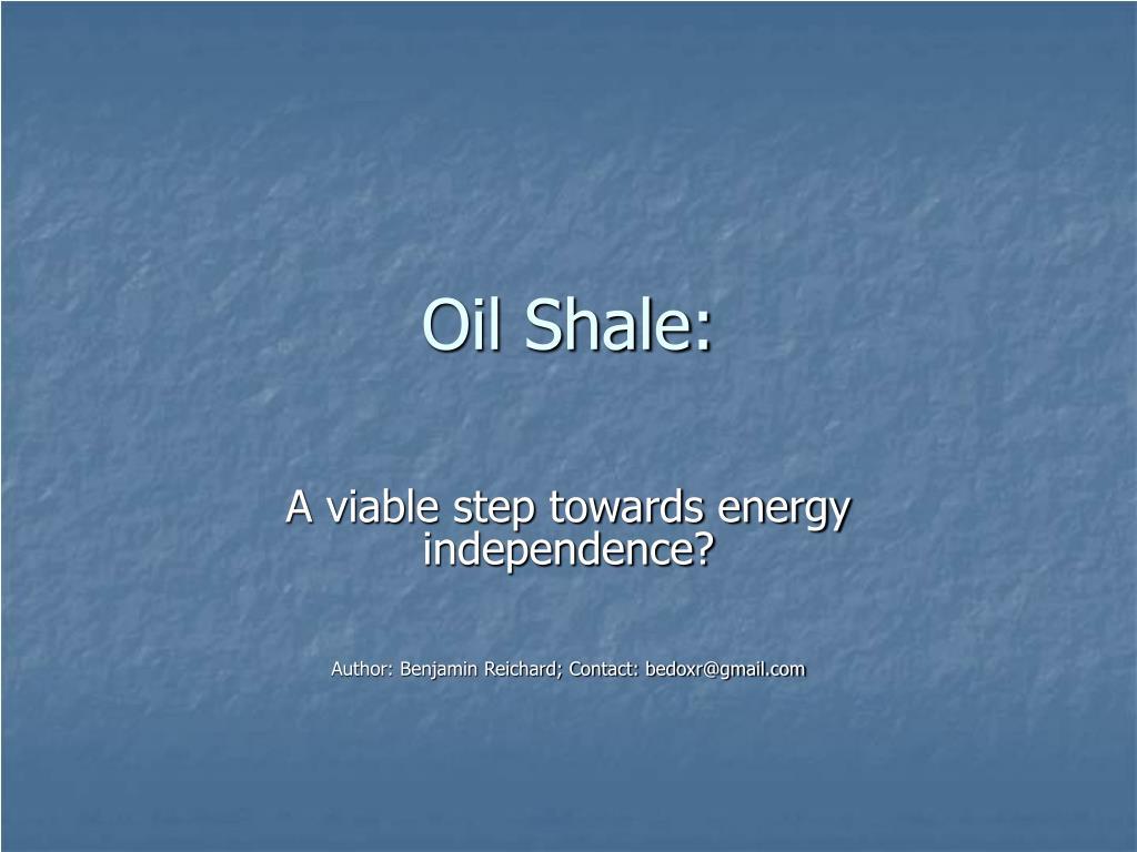 oil shale l.
