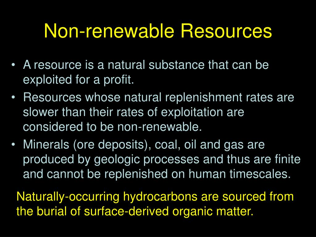 non renewable resources l.