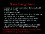 some energy terms