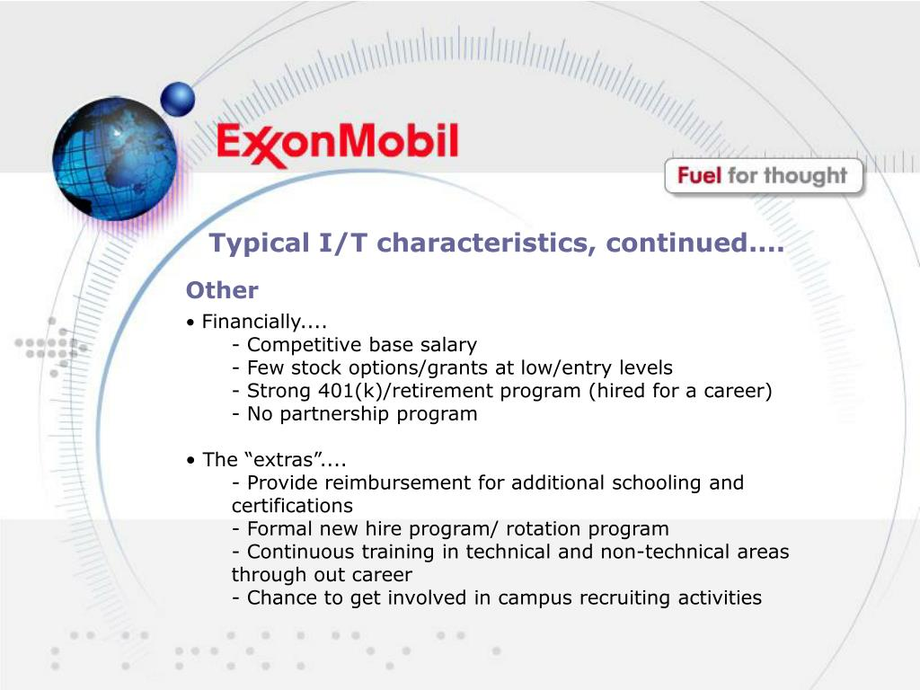 PPT - ExxonMobil Careers: Fuel For Thought PowerPoint