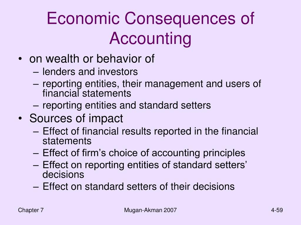 Economic Consequences of Accounting
