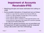impairment of accounts receivable ifrs