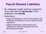 payroll related liabilities
