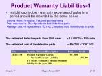 product warranty liabilities 1