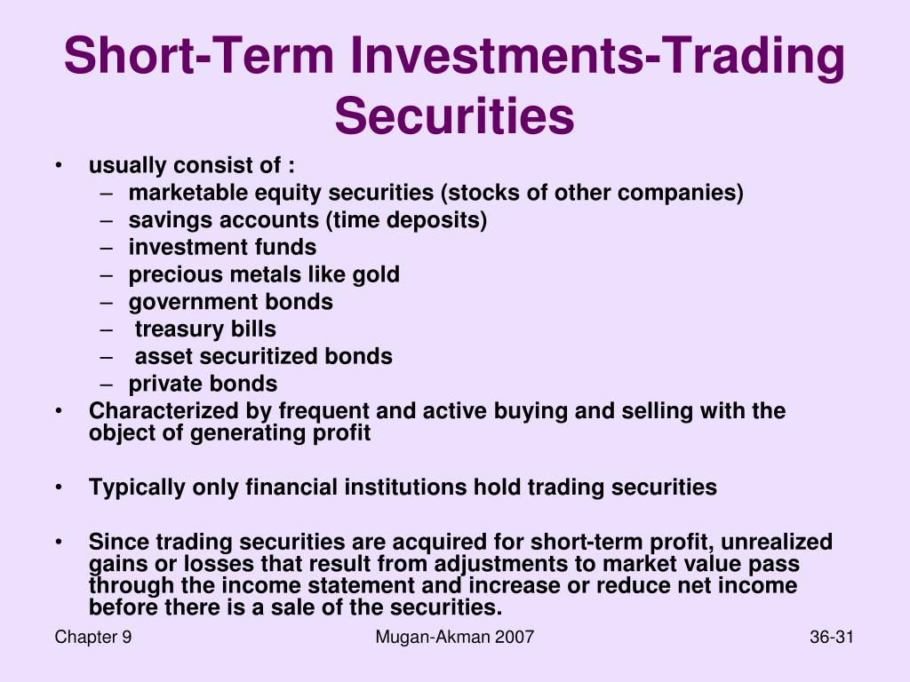 Short-Term Investments-Trading Securities