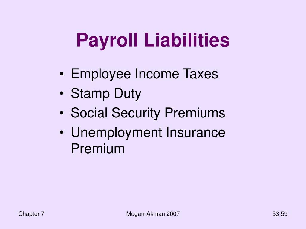 Payroll Liabilities