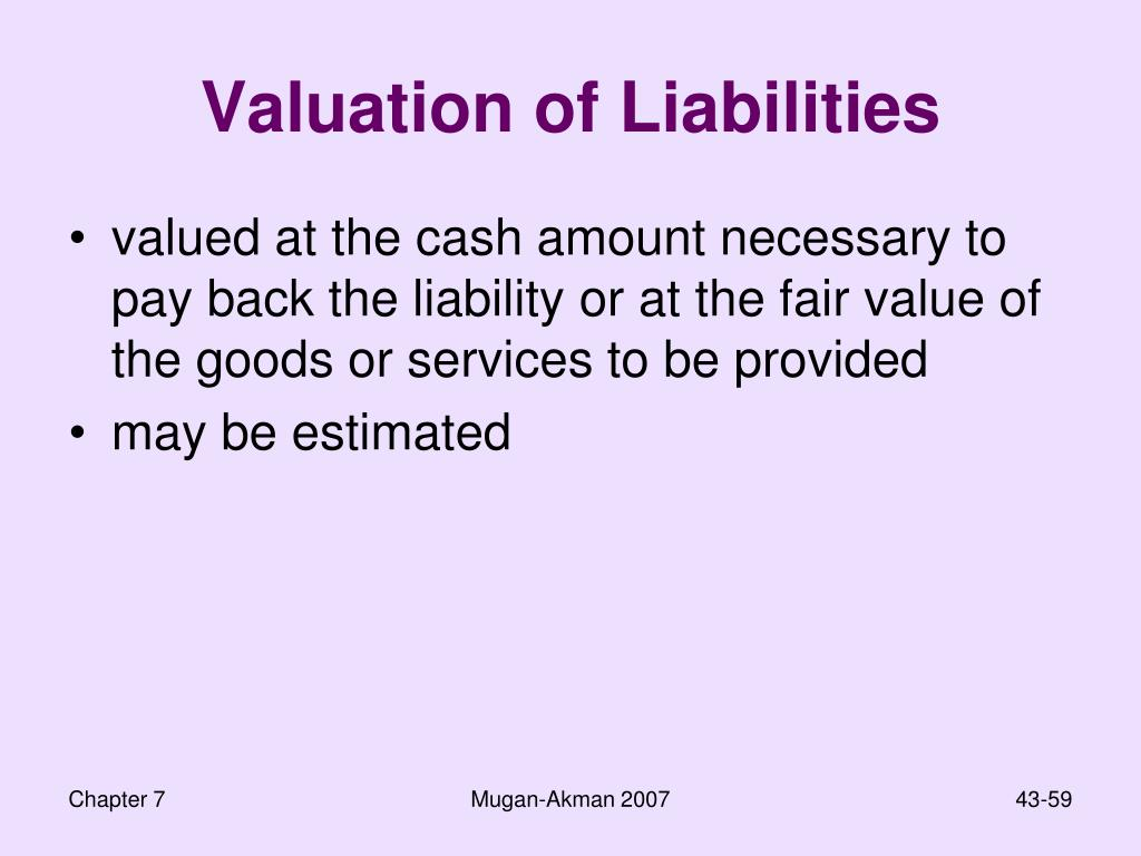 Valuation of Liabilities
