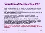 valuation of receivables ifrs