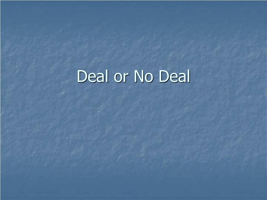 deal or no deal l.