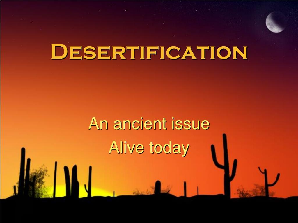 desertification l.