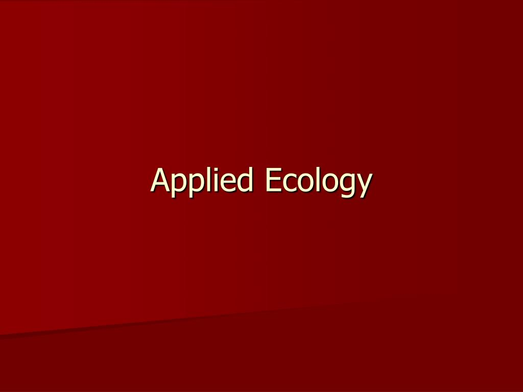 applied ecology l.