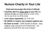 nurture charity in your life