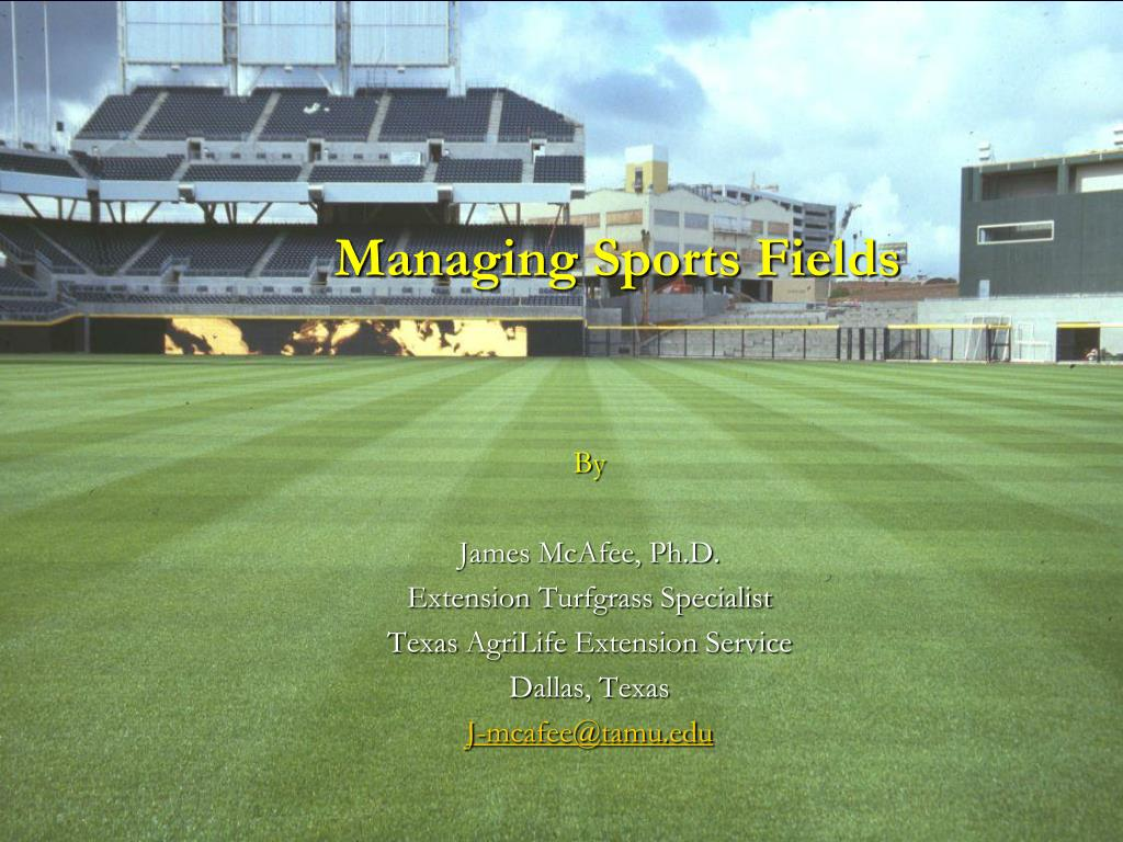 managing sports fields l.