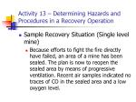 activity 13 determining hazards and procedures in a recovery operation21
