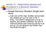 activity 13 determining hazards and procedures in a recovery operation22