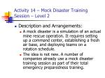 activity 14 mock disaster training session level 233