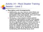 activity 14 mock disaster training session level 236