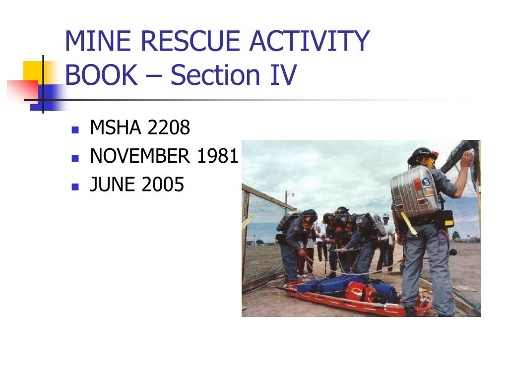 mine rescue activity book section iv l.