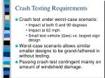 crash testing requirements