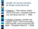 nchrp 350 crash testing of work zone devices3