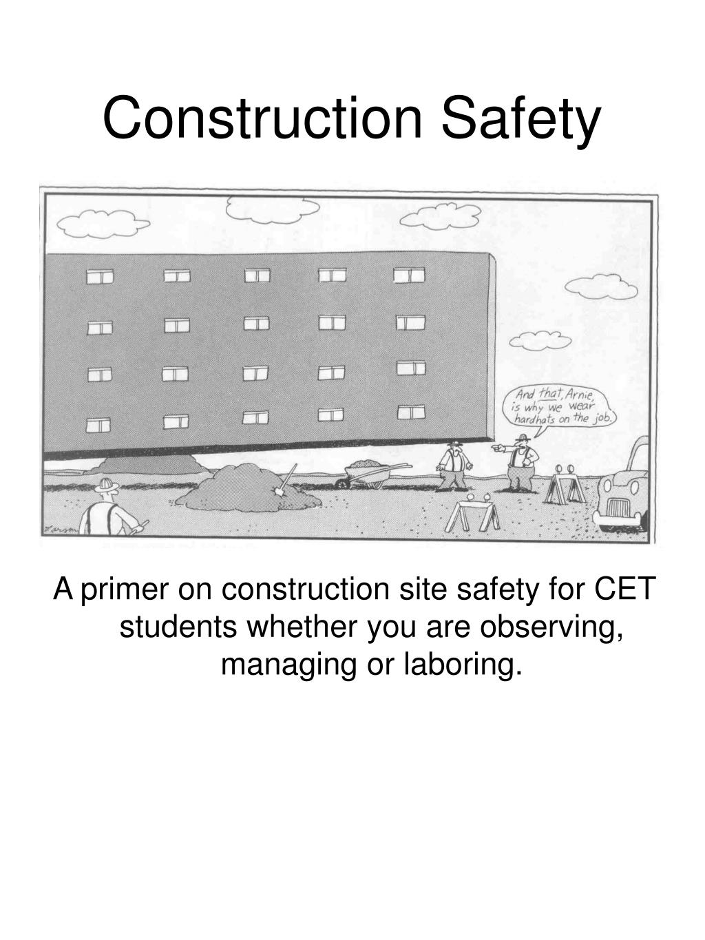 construction safety l.