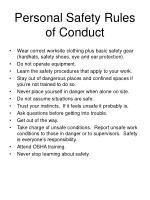 personal safety rules of conduct