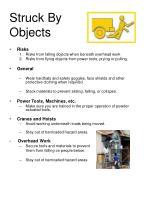 struck by objects