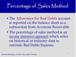 percentage of sales method23