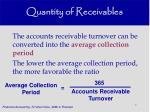 quantity of receivables51