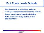 exit route leads outside