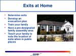 exits at home